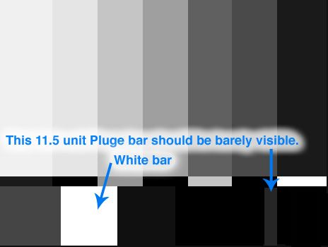 SMPTE bars as they should appear in viewfinder.