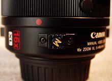 The 16x Manual Servo lens' macro button
