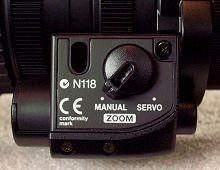 The Manual/Servo Zoom switch