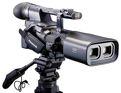 Panasonic Unveils World's First Integrated Full HD 3D Camcorder at CES 2010-fullhd3dcamleft34.jpg