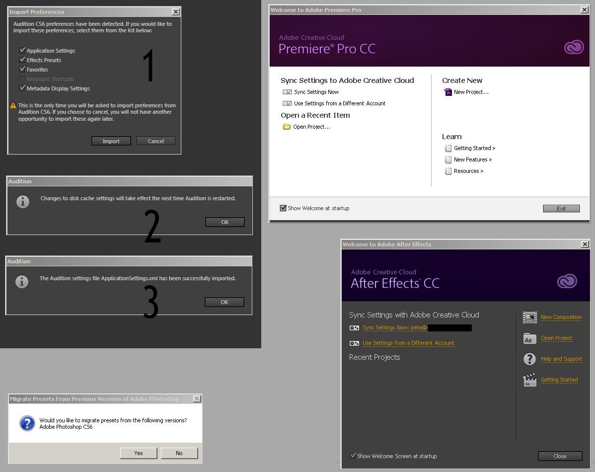 Premiere Pro CC not retaining settings from CS6 at DVinfo net