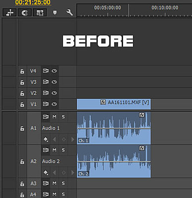 Premiere Pro CC - How to get 2 separate channels on timeline-before.jpg
