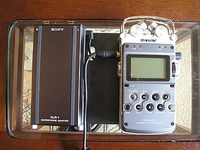 Sony XLR-1 Adaptor for the PCM-D50 and D1.-distance-needed-plug-cans-.-medium-.jpg