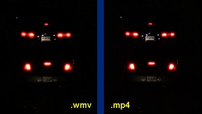 .wmv and H.264-night-car-tag-comparison.jpg
