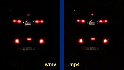 .wmv and H.264-night-car-tag-comparison.jpg