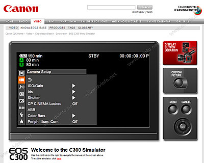 Canon C300 menu simulator now available online-c300menusim.jpg