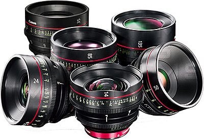 Canon Cinema Prime Discount Program January 5 2014 at Texas Media Systems-canon_6-lens-makeshift_water.jpg