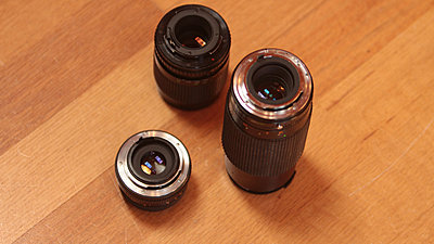 Old Lenses Found-Which adapter?-3-lenses-mounts-closer.jpg