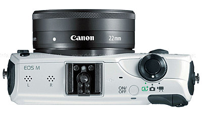 Canon USA Announces EOS M Mirrorless APS-C Camera-eosm-top-white.jpg