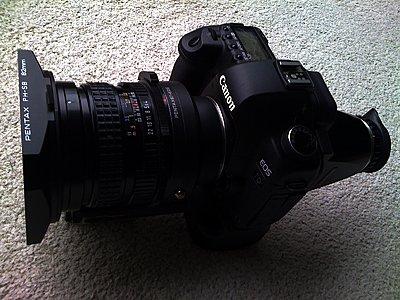 LENSES FOR STILLS & VIDEO an alternative view-canon-5d-mark2-pentax-67-45mm.jpeg