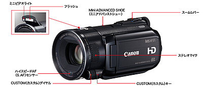 Canon Japan announces  iVIS HF S11, HF21-hfs11right.jpg