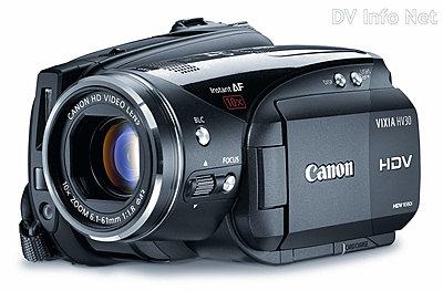 Canon's New VIXIA line of consumer HD camcorders-hv30oblique.jpg