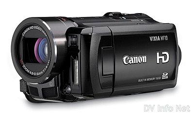 Canon's New VIXIA line of consumer HD camcorders-hf10oblique.jpg