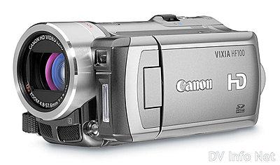 Canon's New VIXIA line of consumer HD camcorders-hf100oblique.jpg