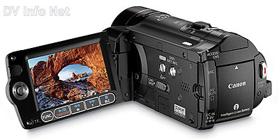 Canon VIXIA HF10 and HF100 flash memory HD cams-hf10revobopen.jpg