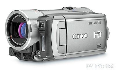 Canon VIXIA HF10 and HF100 flash memory HD cams-hf100oblique2.jpg