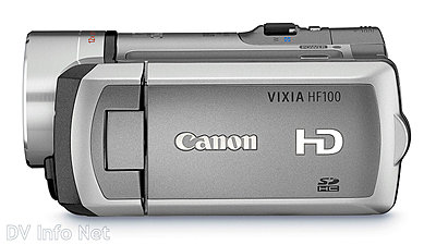 Canon VIXIA HF10 and HF100 flash memory HD cams-hf100side.jpg