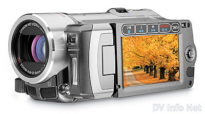 Canon VIXIA HF10 and HF100 flash memory HD cams-hf100obliqueclosed.jpg