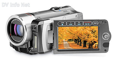 Canon VIXIA HF10 and HF100 flash memory HD cams-hf100obliqueopen.jpg