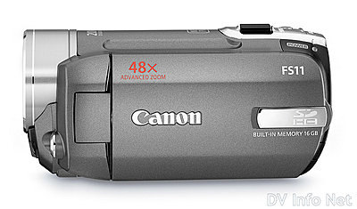 Canon VIXIA HF10 and HF100 flash memory HD cams-fs11side.jpg