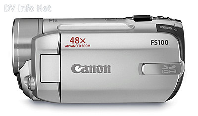 Canon VIXIA HF10 and HF100 flash memory HD cams-fs100side.jpg