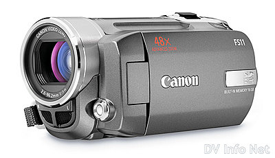 Canon VIXIA HF10 and HF100 flash memory HD cams-fs11oblique.jpg
