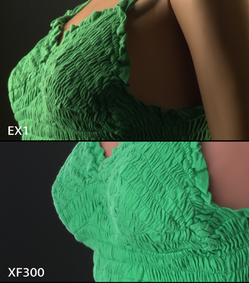 Raw samples of Canon XF300 & Sony EX1R-xf300-vs-ex1-chestshot.png