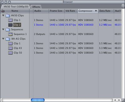 Xh-a1 & Hv30 Using 30p Not Mixing In Fcp-browser.tiff