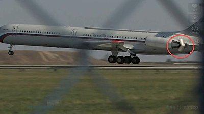 Aircrafts from the Prague airport Ruzyne-thrust_reverser.jpg