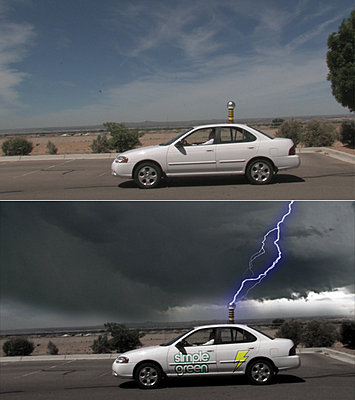 """Commercial for """"Simple Green"""" shot with XH As-lightningbeforeafter.jpg"""