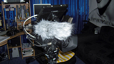 NTG-2 on the XH-A1 mic holder...will I regret not using a shock mount?-deadcat2.jpg
