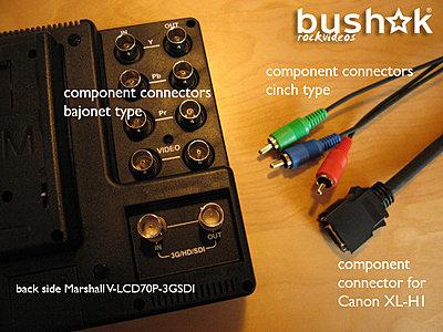 "No camera-info (Canon XL-H1) on my Marshall V-LCD70P-3GSDI 7"" monitor-marshall-v-lcd70p-3gsdi_connections.jpg"