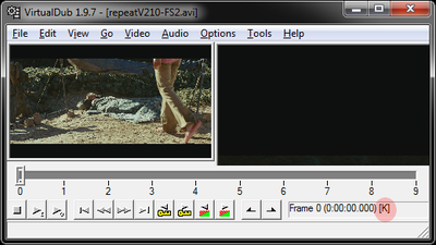 How to quickly tell if CF video is I-Frame or not.-vdubkey.png