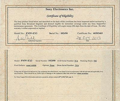 All Ebay Listings 2013-sony-ex-3-cert.jpg