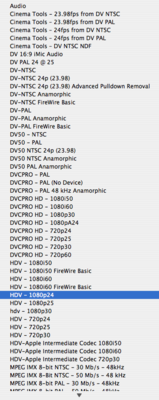 What codec to use for HDV ingestion.-1080p24.png