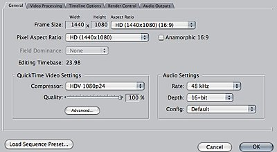 Canon XH-A1 23.98 sequence from FCP 5 print to tape issue-sequence.jpg