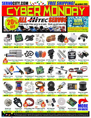 CYBER MONDAY - Save BIG with  ServoCity-cyber-monday-2015-flyer-front-.jpg