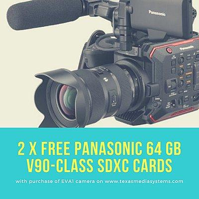 Panasonic EVA1 Promotion: Two Free 64GB SD Memory Cards 9.98 Texas Media Systems-panasonic-eva1-promo-two-free-64gb-cards-texas-media-systems.jpg