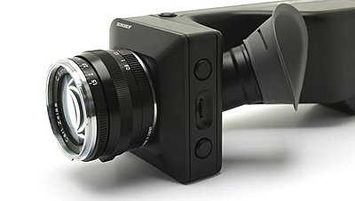 Ikonoskop A-cam dII at IBC2008-nab2008mockup.jpg