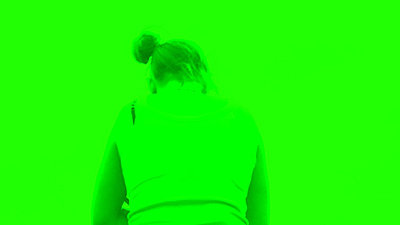Footage is fluorescent green on playback-greenerror.jpg