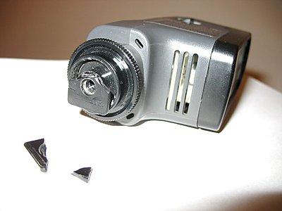on camera light, shoe mount problem ...-sony20wattlightbroken.jpg