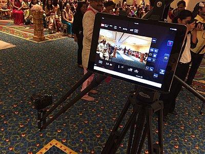 Panasonic App used as video monitor for GH4-ipad.jpg