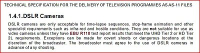 Answer this: If new broadcast deliverable standards demand Super35, what about MFT?-bbc-dslr.jpg
