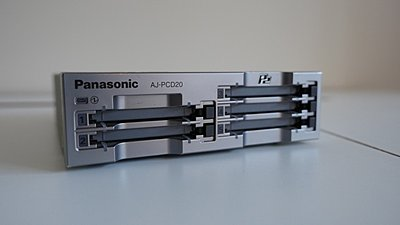 Panasonic AJ PCD20 5-Slot P2 Card Reader-p1050314.jpeg