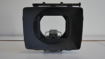 Century Optics DV Matte box, Wide Angle with 15mm rods-p1050261.jpeg