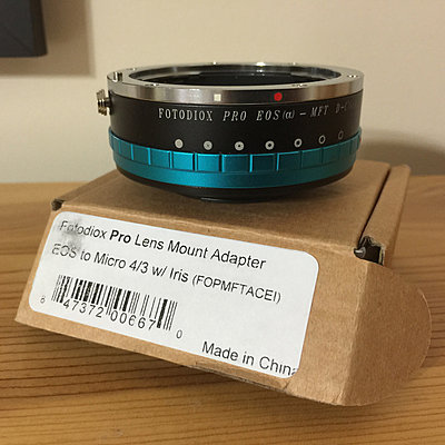Fotodox Pro Lens Mount Adapter - EOS to Micro 4/3 with Iris - Declicked-adapter1.jpg