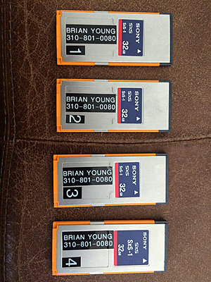 FOUR (4) Sony SBS-32G1A SBS32G1A 32GB SxS-1 Professional Memory Cards-img_0600.jpg