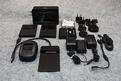 Atomos Samurai Blade package + 750GB HDD -- perfect condition-all-parts.jpg