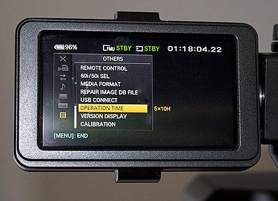 Sony NEX-EA50U w/all orig. acc. & extras-ea50-hours.jpg