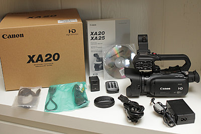 Canon xa20 - excellent, original box, accessories, more-00-xa20a-all-accessories.jpg